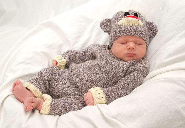 Knitting Patterns For Sock Monkey Clothes : Baby Sock Monkey Costume! - Knitting is Awesome