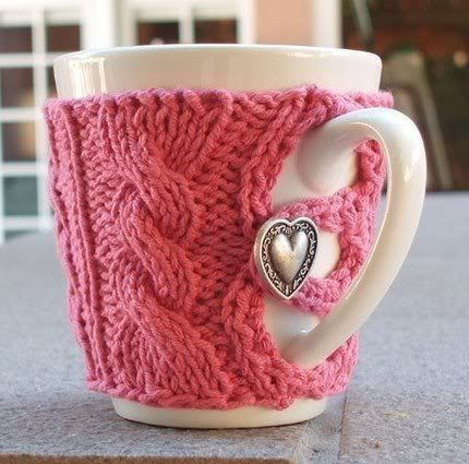 Mug Cozies Knitting Pattern : Knitted Mug Cozies - Knitting is Awesome