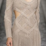 Knitted Dress on the Runway