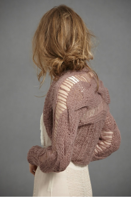 Knitting Pattern For Shrug Sweater : Cable Knit Shrug - Knitting is Awesome