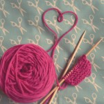 Knitting with Pink Yarn