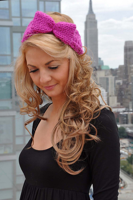 Learn How To Make A Knitted Bow Headband Free Knitting Pattern With