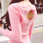 Bow Back V-Neck Sweater
