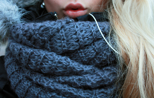 Cozy Cowl Neck Scarf Knitting Is Awesome