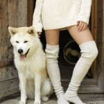 Long Knit Sweater with Over the Knee Socks