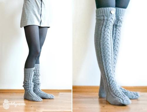 Over The Knee Cable Knit Socks Knitting Is Awesome