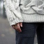 Sideways Cable Knit Sweater