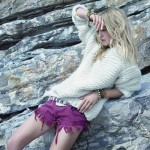 Chunky Knit Sweater with Shorts