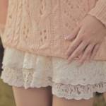 Sweater with Lace Shorts