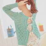Ribbon Bow Back Sweater