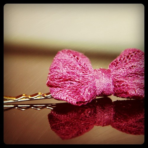 Knitted Bow Pin - Knitting is Awesome