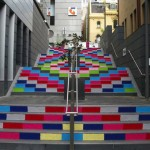 Yarn Bombed Stairs