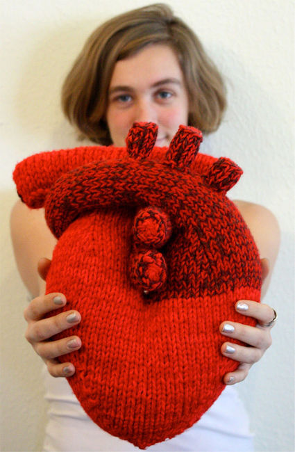 Show Your Love With a Hand Knit Heart - Knitting is Awesome