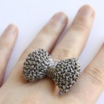 Knitted Bow Ring