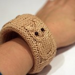 Knitted Owl Bangle