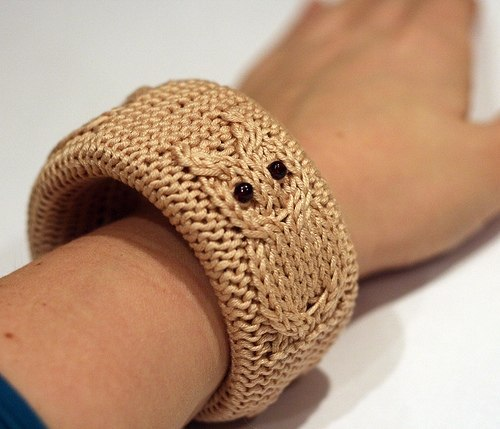 Knitted Owl Bangle - Knitting is Awesome
