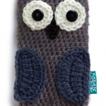 Crocheted Owl Phone Case