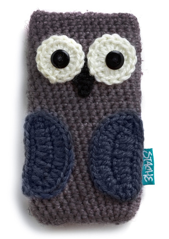 Free Crochet Pattern Phone Case : Crocheted Owl Phone Case - Knitting is Awesome