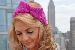 """Bow Head"" Bow Headband Free Knitting Pattern"