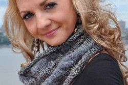 """Chic Cowl"" Cabled Cowl Neck Scarf Free Knitting Pattern"