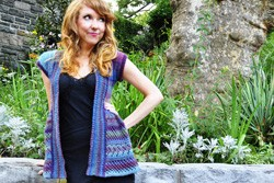 """Ruffle Me Up"" Lace Cardigan Knitting Pattern"