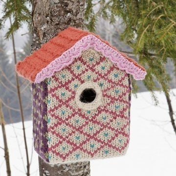 knitted bird house