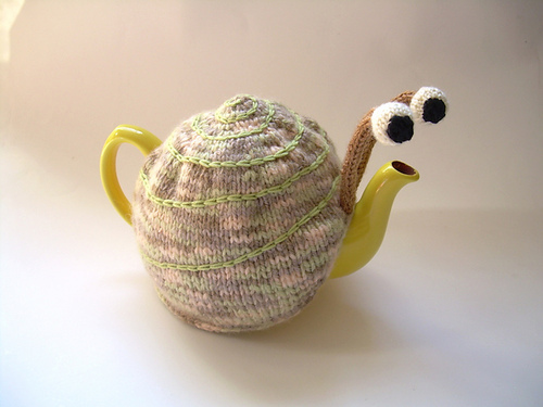 Knitted Snail Tea Cozy - Knitting is Awesome