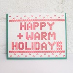 Fair Isle Inspired Holiday Cards