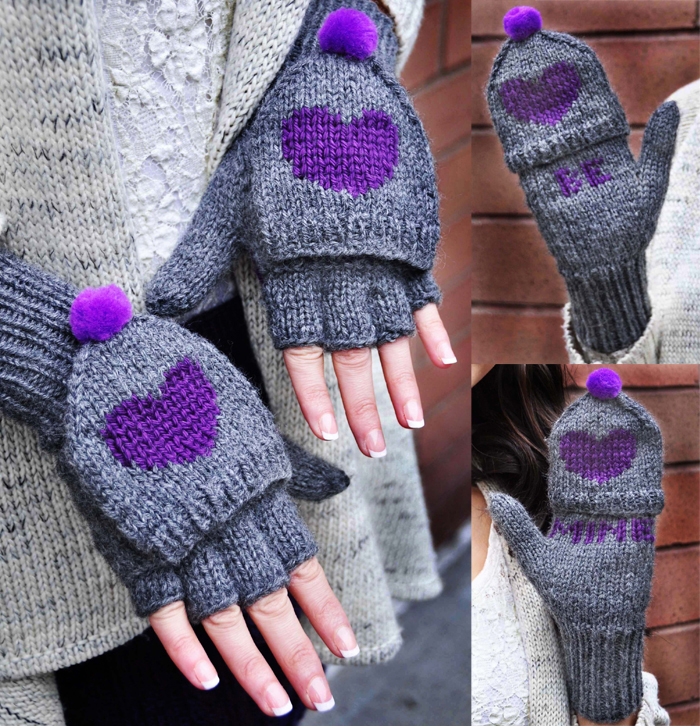 Knitting Patterns Free Fingerless Gloves images