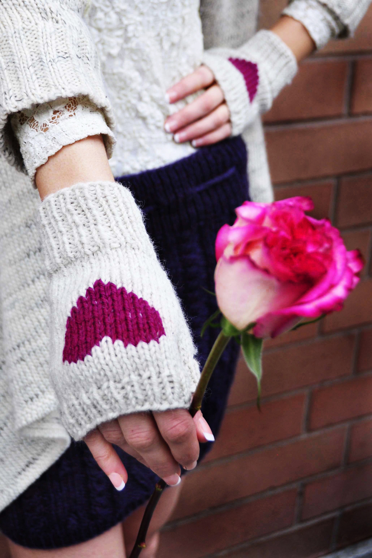 be my valentine fingerless gloves knitting pattern i heart you 5