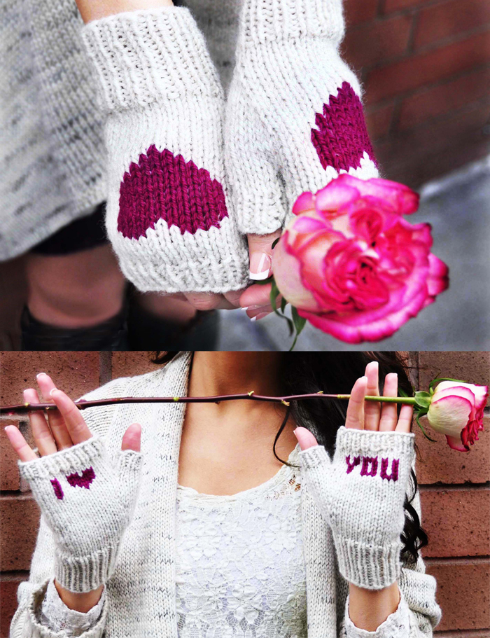 be my valentine fingerless gloves knitting pattern i heart you 6