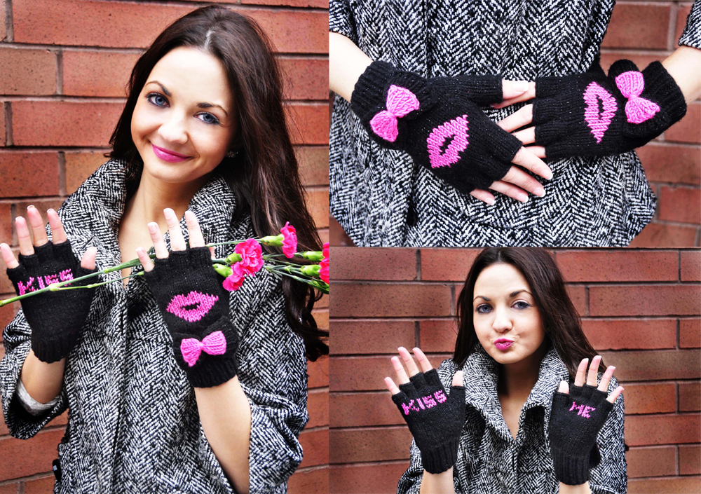 be my valentine fingerless gloves knitting pattern kiss me 5