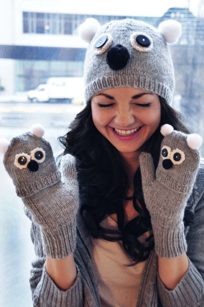 care to cuddle koala bear hat and mittens knitting pattern 4