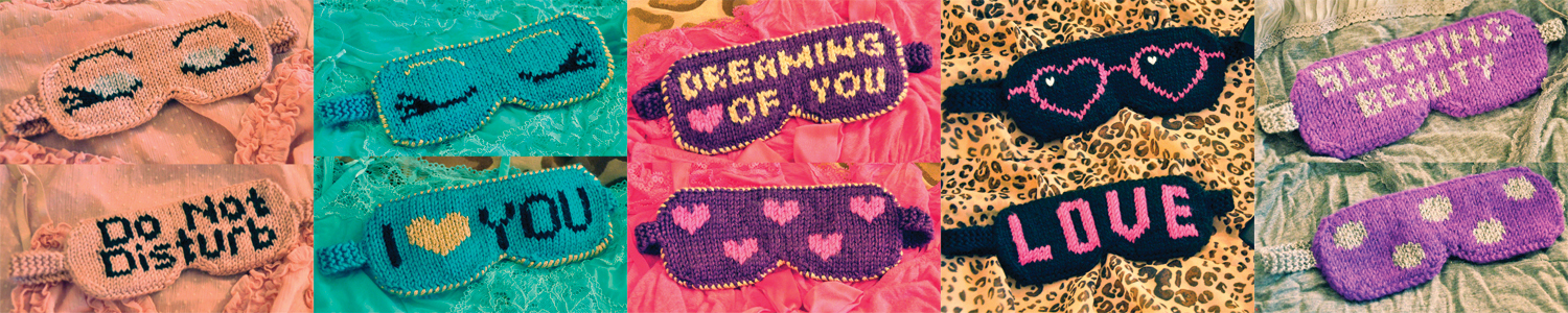 eye candy reversible eye masks knitting pattern