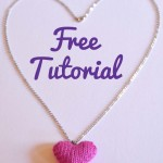 How To Make a Knitted Heart Necklace Free Pattern Tutorial