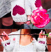 be my valentine i heart you fingerless gloves