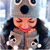 care to cuddle koala mittens