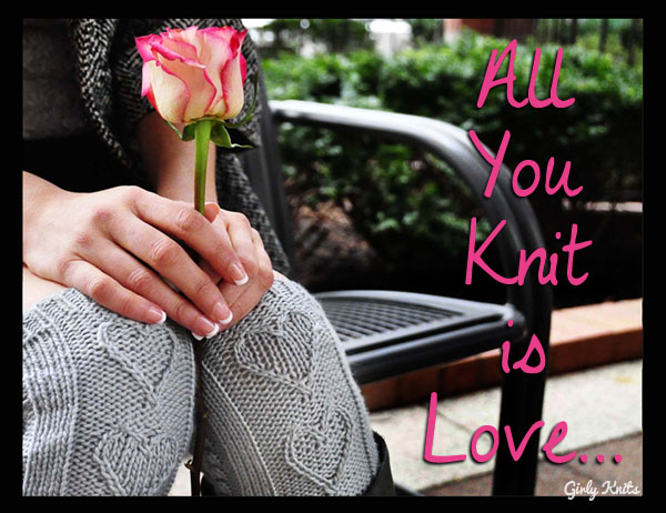 girly knits valentine gk