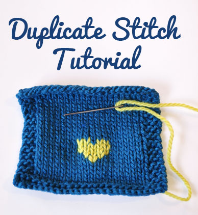how to do duplicate stitch tutorial
