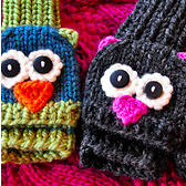 smitten mittens cat and owl gloves