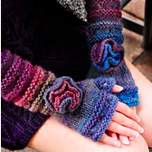 your time to shine fingerless gloves flower