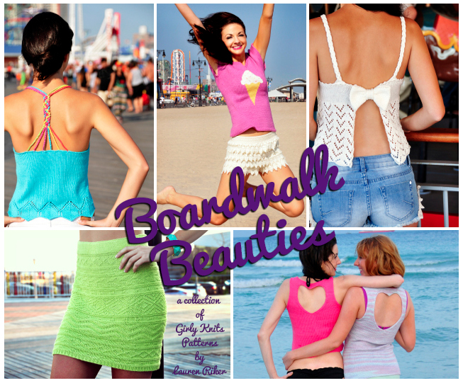 girly knits boardwalk beauties knitting pattern collection