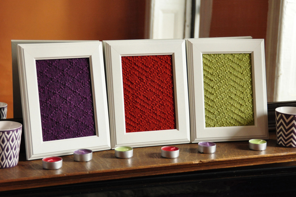 aztec textures knitted wall art knitting pattern