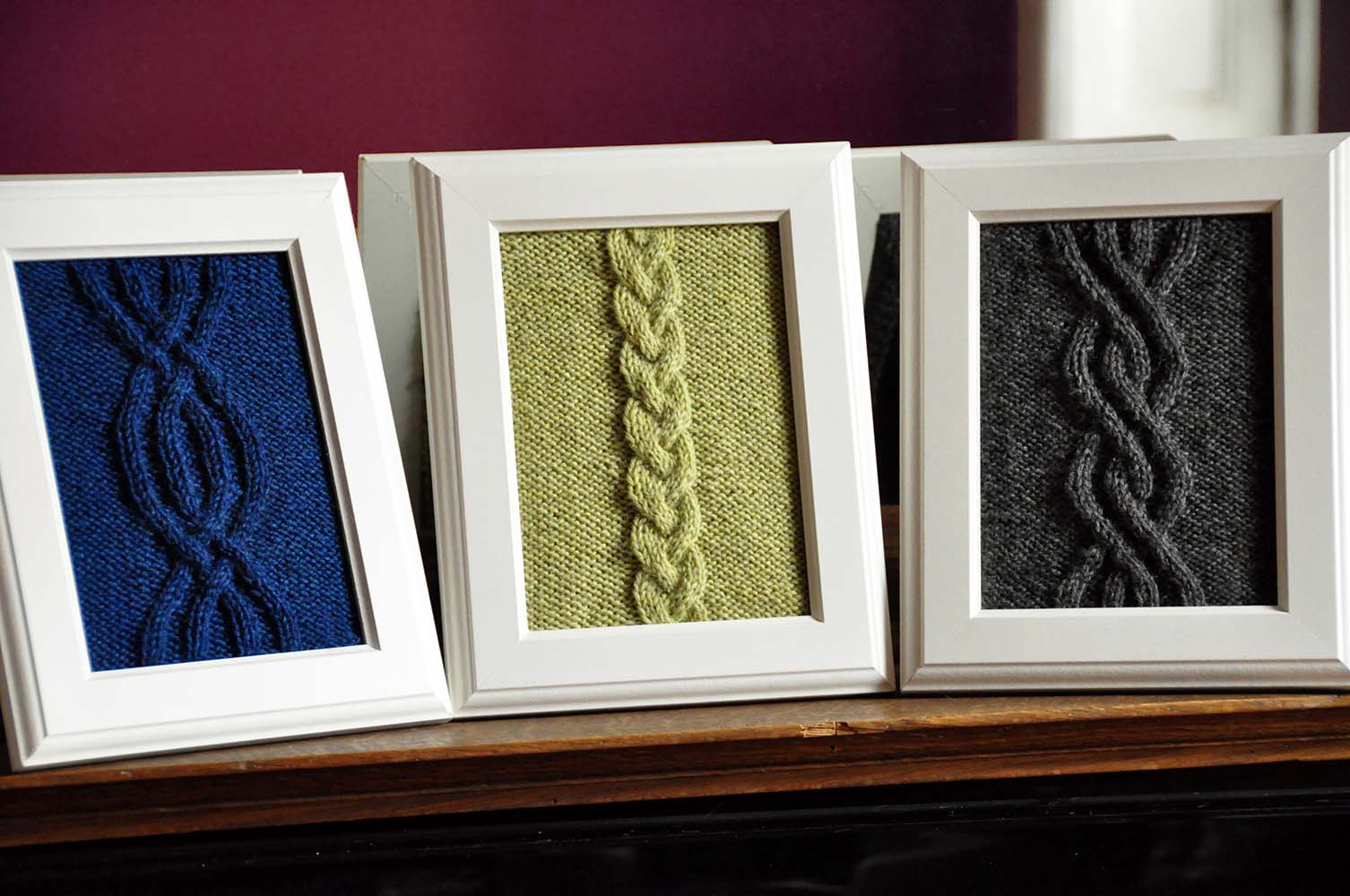 """Cable Panels"" Knitted Wall Art Knitting Pattern"