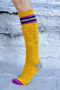 roller girl knitted striped knee high socks 1