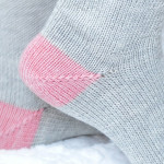 sock heel detail