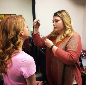 getting airbrushed makeup