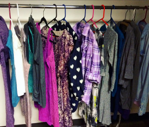 rack of outfits