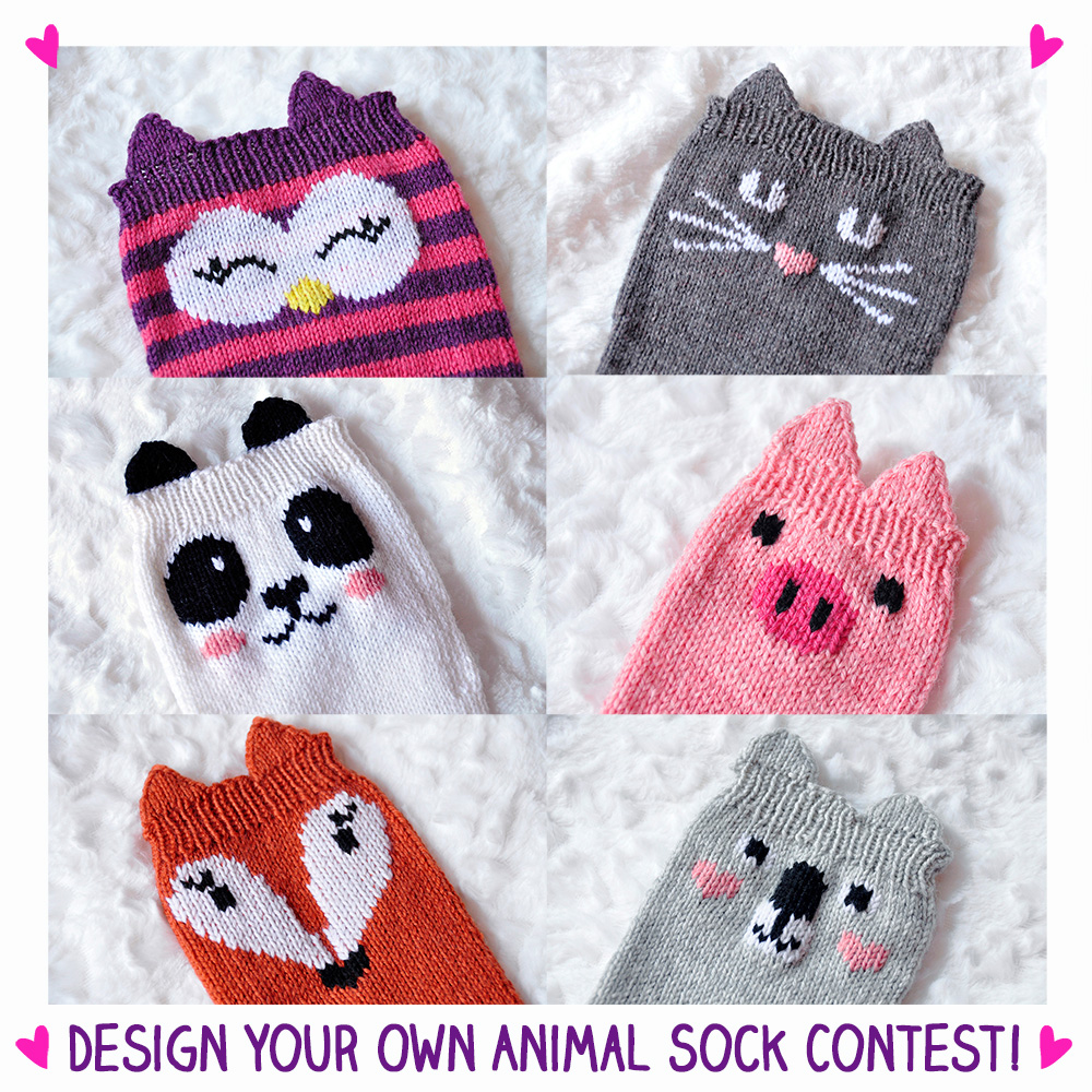 design your own animal sock contest