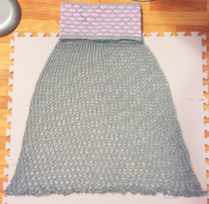 mermaid skirt blocked